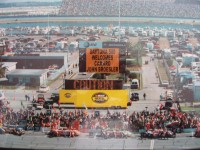 Highlight for Album: Me On Sign At Daytona 500.