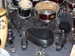 D.W. 7000 Double Bass Pedals, Pearl 2000 10 Way High Hat.