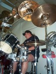 Me, Setting Up The Drums In The New Music Room.