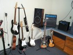 Guitars, Amps And The Sound System For Electronic Drums.