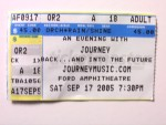 Journey Concert Ticket Row A Seat 18 Right In The Middle !